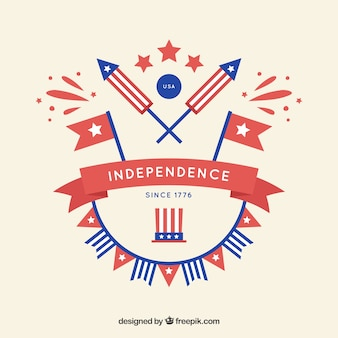 Versiering van de amerikaanse onafhankelijkheid