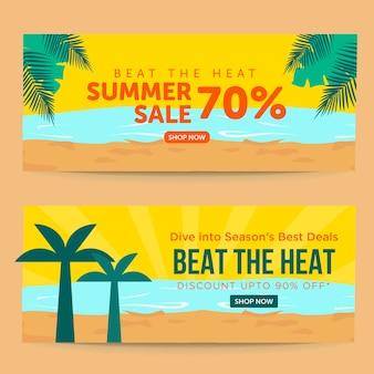 Versla de hitte zomer verkoop banner ontwerpsjabloon