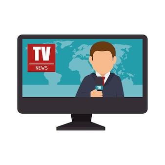 Verslaggever tv lcd nieuws
