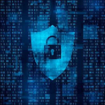 Versleuteling van informatie. firewall - gegevensbescherming. systeem van netwerkbeveiliging.