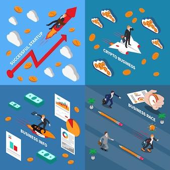 Versnel bedrijfsconcept illustratie
