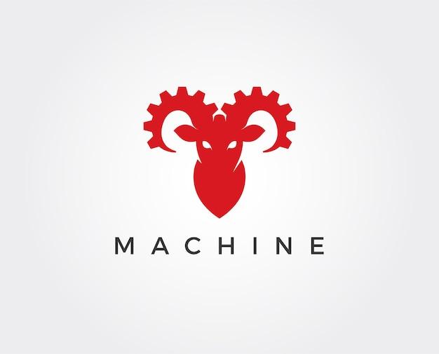 Versnelling met stier hoorns technologie vector concept
