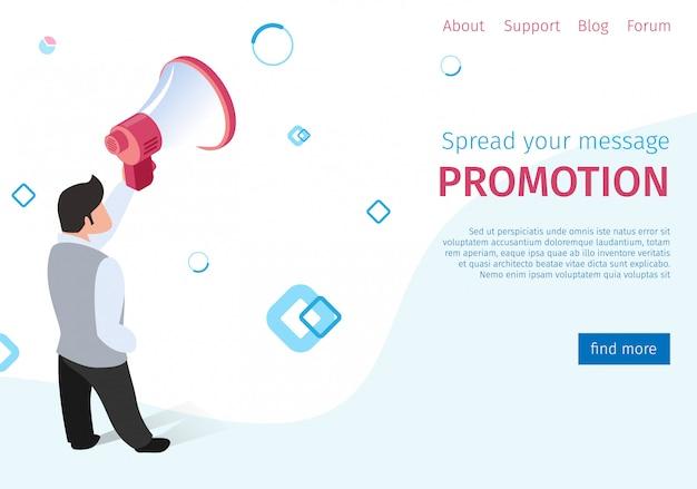 Verspreid uw bericht promotie op sociale netwerken.
