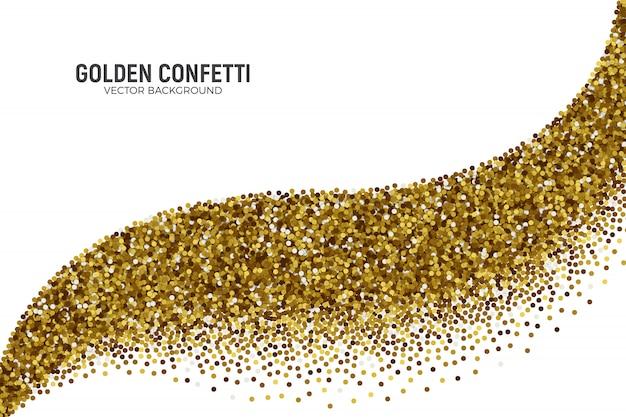 Verspreide gouden confetti achtergrond