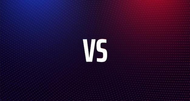 Versus confrontatie rood en blauw glanzend scherm met vs-teken