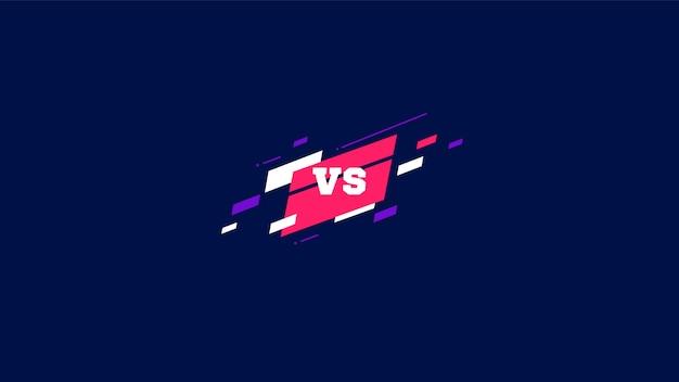 Versus logo vs letters voor sport en vecht competitie. vector illustratie