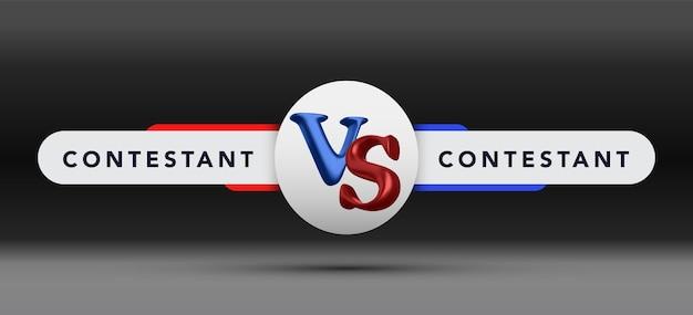 Versus raad van rivalen, met ruimte voor tekst. vectorillustratie. vector illustratie