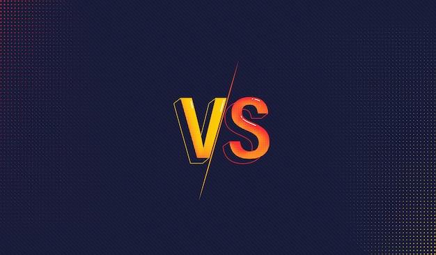 Versus schermachtergrond, vecht clash battle vs match.
