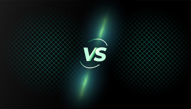 Versus versus achtergrondgevechtsschermsjabloonontwerp