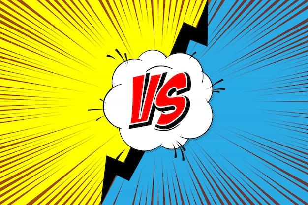 Versus. versus comics-stijl vechten
