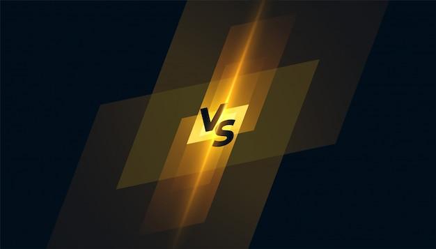 Versus vs concurrentie scherm sjabloon achtergrondontwerp