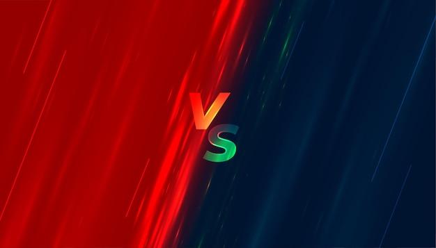 Versus vs fight battle schermachtergrond