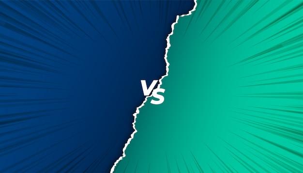 Versus vs schermachtergrond in gescheurd papier stijl