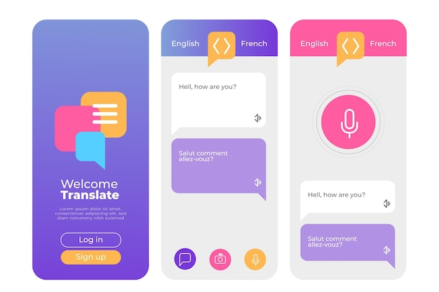 Vertaler app-interface concept