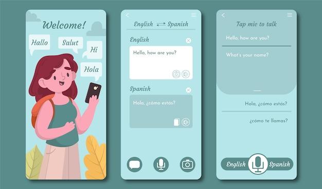 Vertaler app set sjabloon