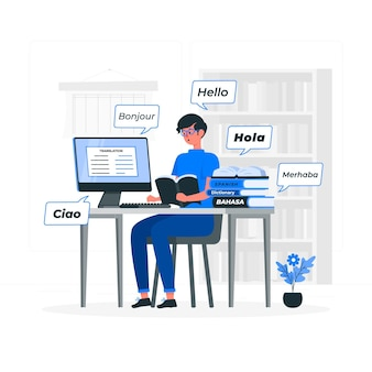 Vertaler concept illustratie