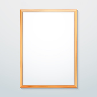 Verticaal houtstructuur frame mockup