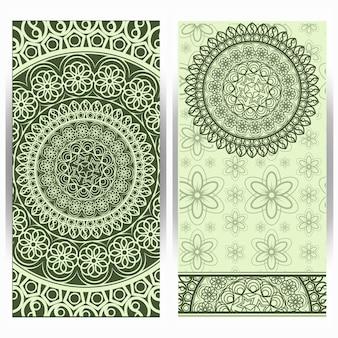 Verticale achtergrond met mandala-ontwerp