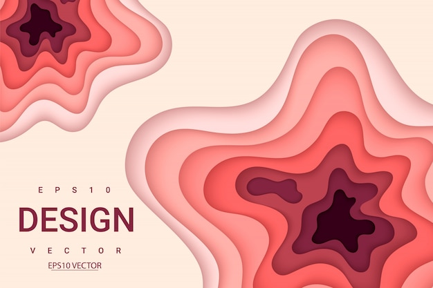 Verticale banners met 3d-abstracte achtergrond met papier gesneden vormen.
