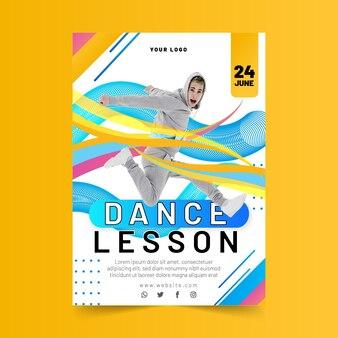 Verticale flyer-sjabloon voor dansles