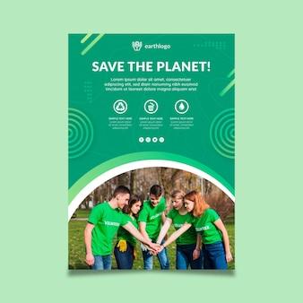 Verticale flyer-sjabloon voor de viering van de dag van de moeder aarde