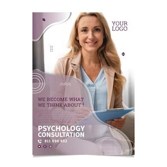 Verticale flyer-sjabloon voor psychologie