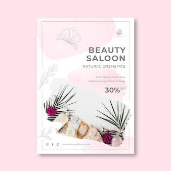 Verticale flyer-sjabloon voor schoonheidssalon