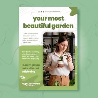 Verticale flyer-sjabloon voor tuinieren