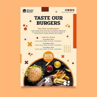 Verticale flyer voor amerikaans eten