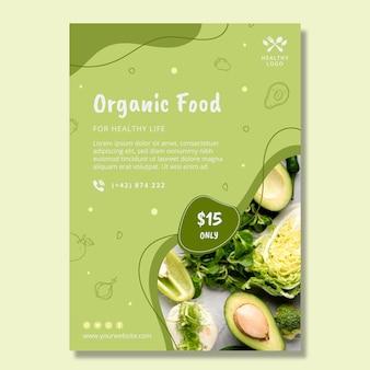 Verticale flyer voor bio en gezonde voeding
