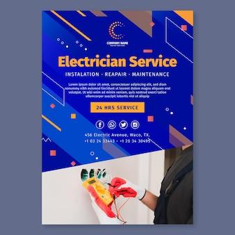 Verticale foldersjabloon voor elektricien