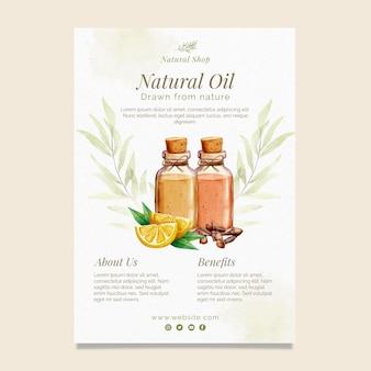 Verticale foldersjabloon voor natuurlijke olie