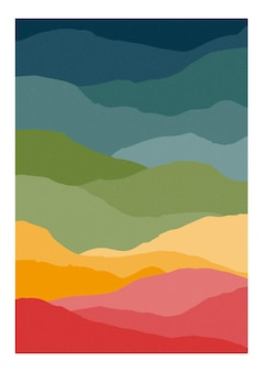 Verticale kaart met abstracte golven