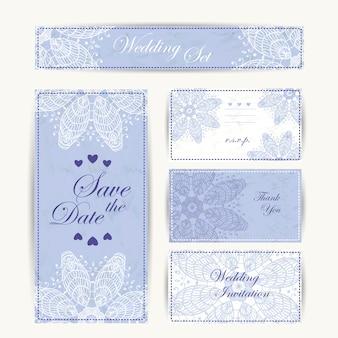 Verticale kaarten van de huwelijksuitnodiging