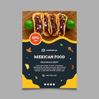 Verticale mexicaans eten poster sjabloon