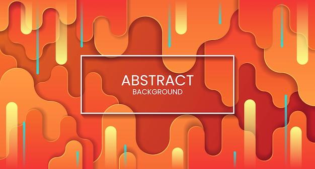 Verticale oranje abstracte achtergrond met gele en blauwe strepen