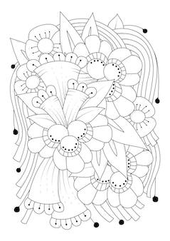 Verticale oriëntatie bloem kleurplaat