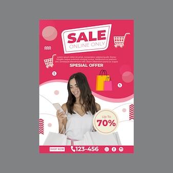 Verticale poster sjabloon voor online winkelen