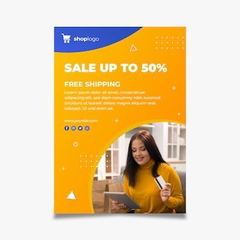Verticale poster voor online winkelen