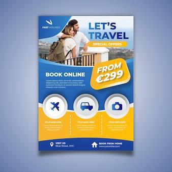 Verticale postersjabloon voor op reis