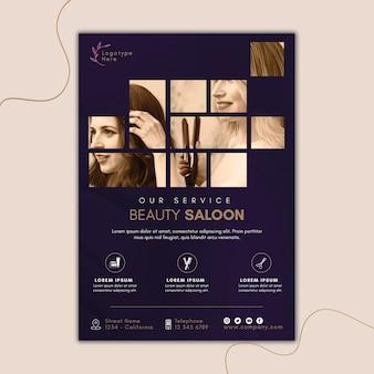 Verticale sjabloon folder voor schoonheidssalon