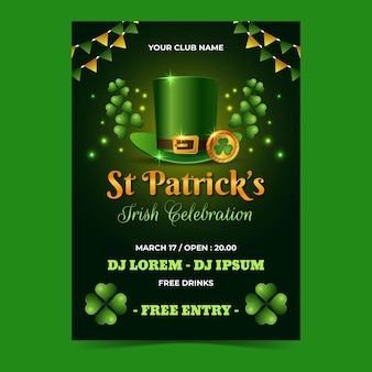 Verticale st. patrick's day flyer