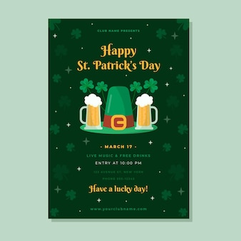 Verticale st. patrick's day poster sjabloon