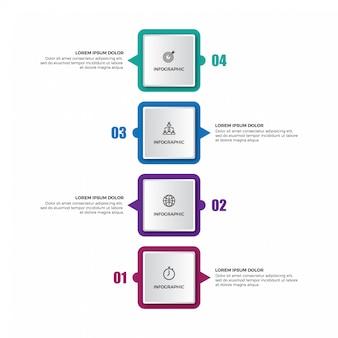 Verticale tijdlijn infographics sjabloon