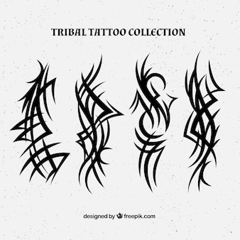 Verticale tribale tattoo collectie