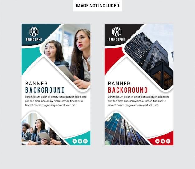 Verticale zakelijke brochure folder banner