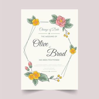 Vertraagde bruiloft plannen hand getekend