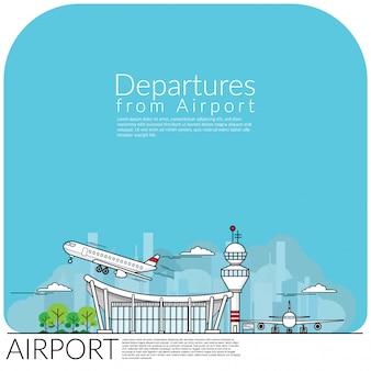 Vertrek vanaf de luchthaven