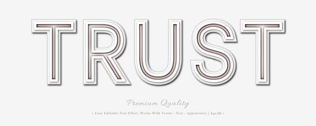Vertrouw op 3d-lettertype-effect