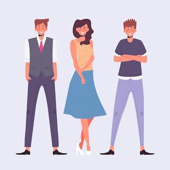 Vertrouwen mensen collectie illustratie
